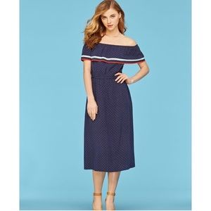 Maison Jules, Blue Fiesta off-the-shoulder Dress